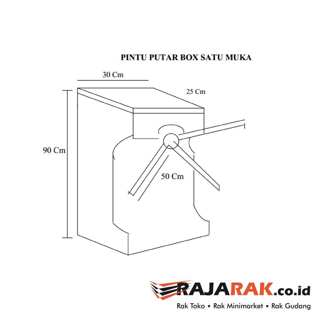 PINTU PUTAR SATU ARAH BOX SINGLE