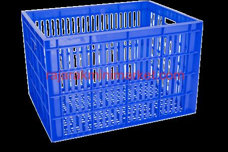JUAL KERANJANG KONTAINER PLASTIK LOBANG TIPE 2233L | www.rajarakminimarket | RAJA RAK INDONESIA | JAKARTA