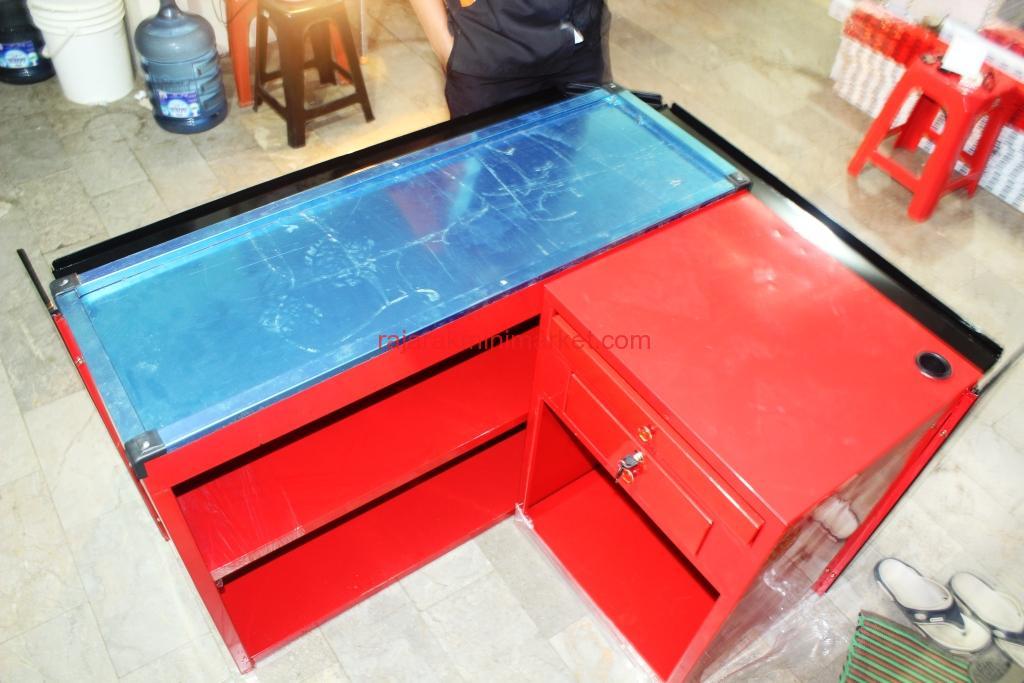 JUAL MEJA KASIR MINIMARKET TIPE 4 + SHELVING | BOGOR | JAKARTA | www.jualrakminimarket.com