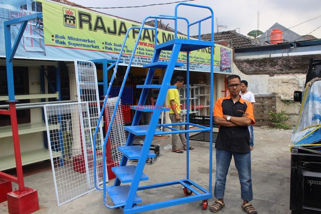 TANGGA DORONG | RAJA RAK INDONESIA | JAKARTA | www.jualrakminimarket.com