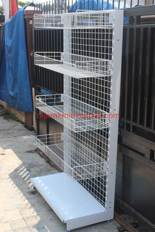 JUAL RAK GONDOLA KERANJANG TIPE 2 ALFA | RAJA RAK MINIMARKET | www.rajarakminimarket.com