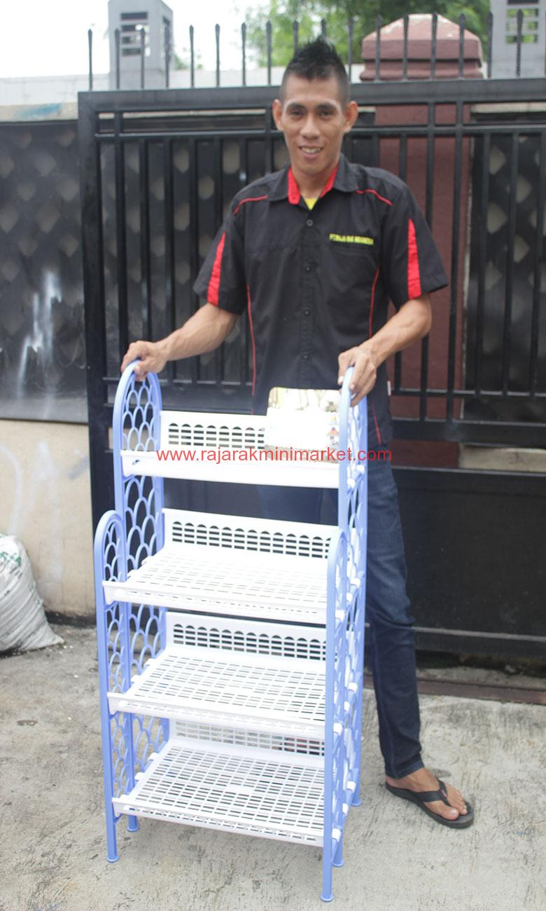 JUAL RAK SEPATU 4 SUSUN TIPE DAISUKI 1352 | JAKARTA | RAJA RAK MINIMARKET | www.rajarakminimarket.com
