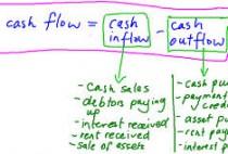 cash out flow