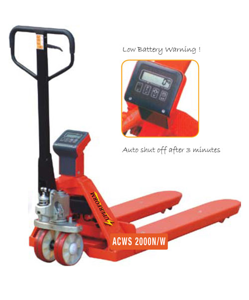 WEIGH SCALE ACWS SERIES HAND PALLET TRUCKS