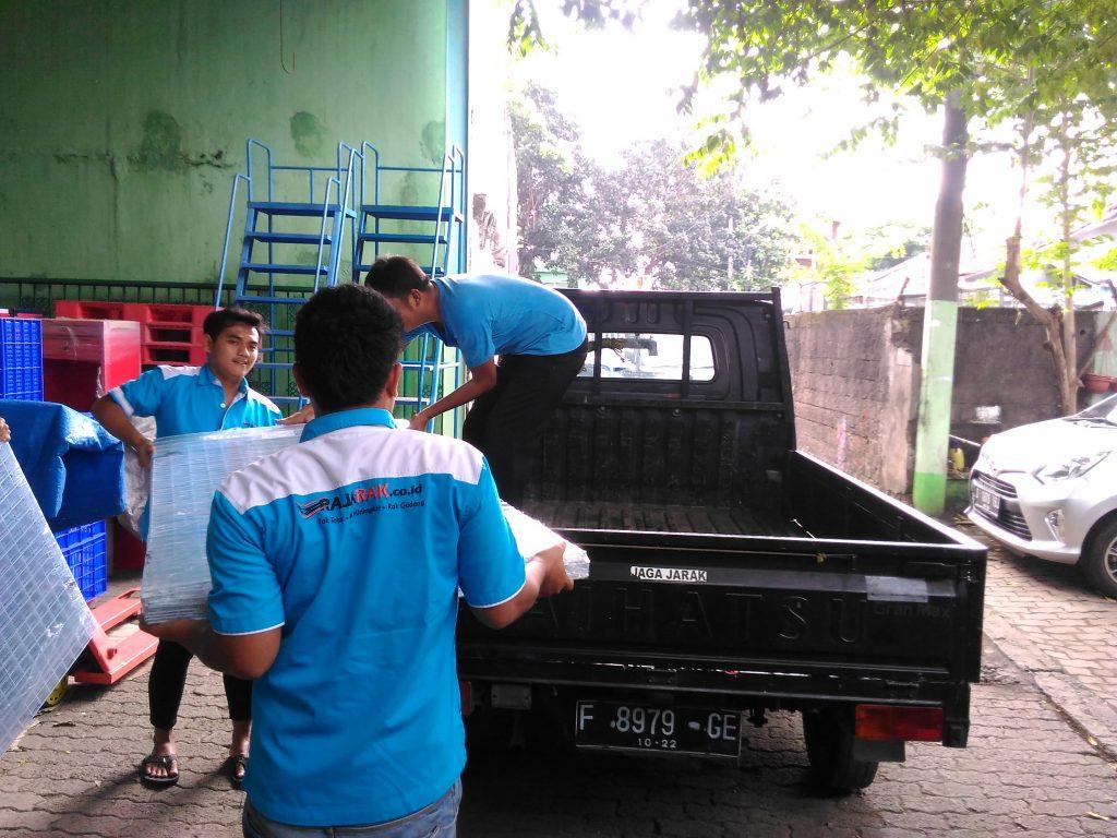 Pengiriman RAK MINIMARKET INDOMARET TIPE RR-14 ke Pangkal Pinang