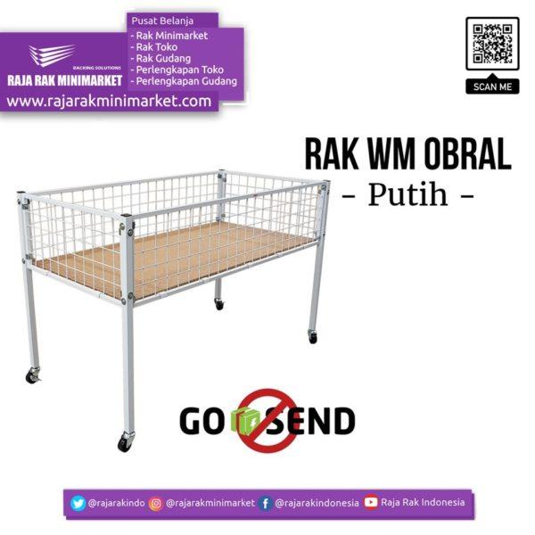 RAK OBRAL WIREMESH TIPE RO-03A   Rak Obral Toko Minimarket rajarakminimarket raja rak indonesia raja rak gudang
