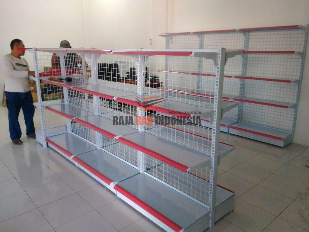 Pemasangan Rak Gondola Minimarket Tipe RR-14 Toko Atk Samping Ramayana Sukabumi