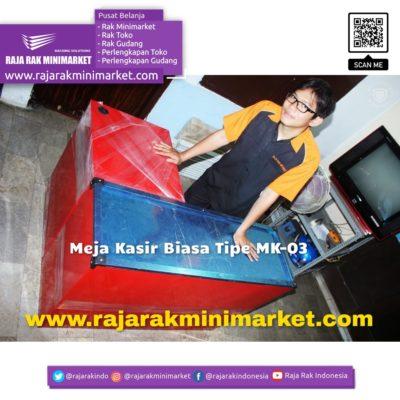 MEJA KASIR MINIMARKET BIASA TIPE MK-03