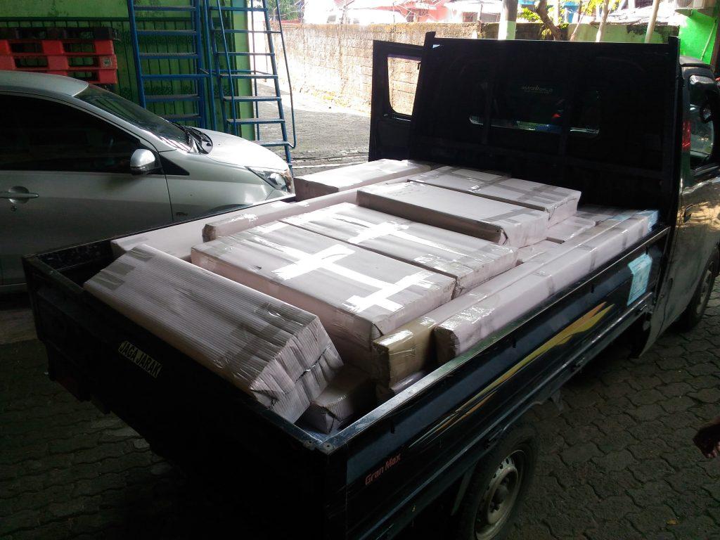 Pengiriman Rak Minimarket Indomaret Tipe RR-14 ke Nabire Papua