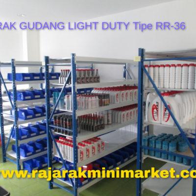 JUAL RAK GUDANG RAK BESI LIGHT DUTY TIPE RR-36 JAKARTA BEKASI BOGOR TANGERANG