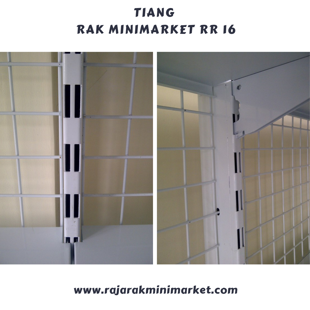 RAK TOKO DISPLAY BESI UNTUK MINIMARKET / SUPERMARKET TIPE RR-16