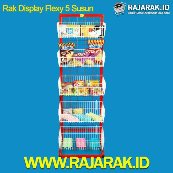Rak Display Flexy 5 susun