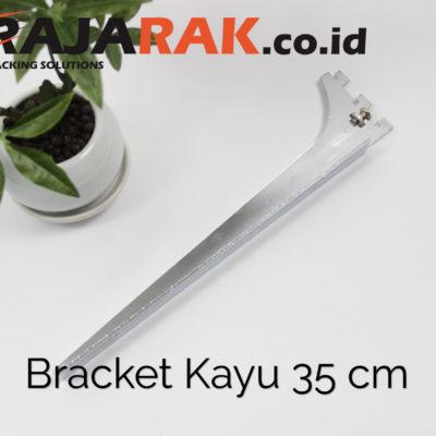 Daun Bracket Kayu 35 cm Tebal 3 mm - Rak Dinding - Rak Kayu - Display Aksesoris