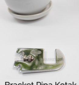Daun Bracket Pipa Kotak Panjang 5 cm CHROME - Bracket Pipa Kotak H 5
