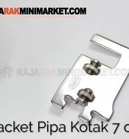 Daun Bracket Pipa Kotak Panjang 7 cm CHROME - Bracket Pipa Kotak H 7