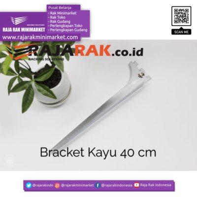 Daun Bracket Kayu 40 cm Tebal 3 mm – Rak Dinding – Rak Kayu – Display Aksesoris