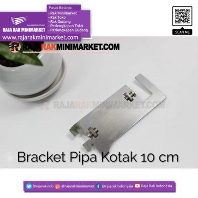 Daun Bracket Pipa Kotak Panjang 10 cm CHROME – Bracket Pipa Kotak H 10