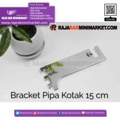 Daun Bracket Pipa Kotak Panjang 15 cm CHROME – Bracket Pipa Kotak H 15 rajarakminimarket raja rak indonesia raja rak gudang