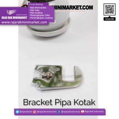 Daun Bracket Pipa Kotak Panjang 5 cm CHROME – Bracket Pipa Kotak H 5