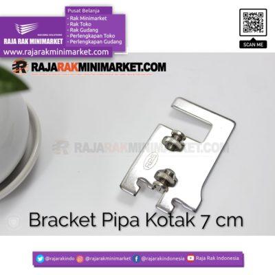 Daun Bracket Pipa Kotak Panjang 7 cm CHROME – Bracket Pipa Kotak H 7 rajarakminimarket raja rak indonesia raja rak gudang