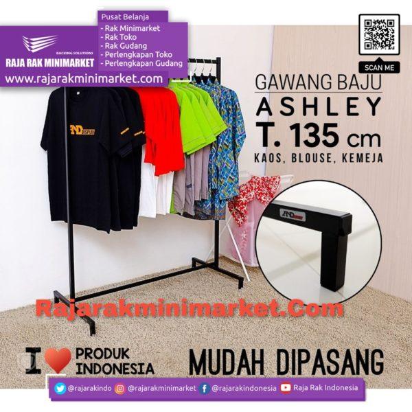 GAWANG BAJU ASHLEY T.135   Rak Display Toko Baju Pakaian Busana rajarakminimarket raja rak indonesia raja rak gudang