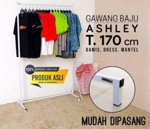 RAK GAWANG BAJU PAKAIAN TOKO DISTRO FASHION BUSANA ASHLEY T.170 PUTIH