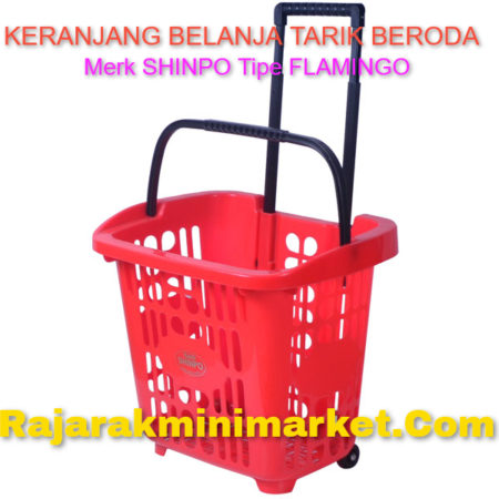 Keranjang Belanja Plastik Tarik SHINPO Tipe FLAMINGO