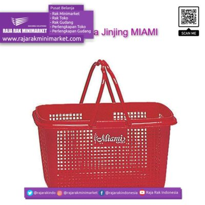 Keranjang Belanja Jinjing MIAMI   Keranjang Plastik Toko Minimarket rajarakminimarket raja rak indonesia raja rak gudang