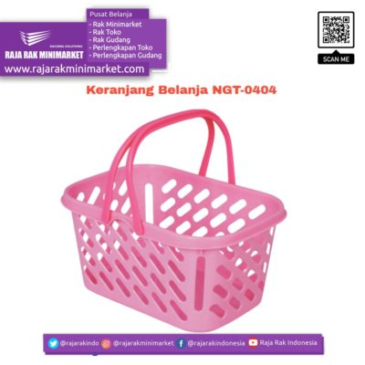 Keranjang Belanja Plastik Jinjing NGT-0404 | Keranjang Toko Minimarket rajarakminimarket raja rak indonesia raja rak gudang