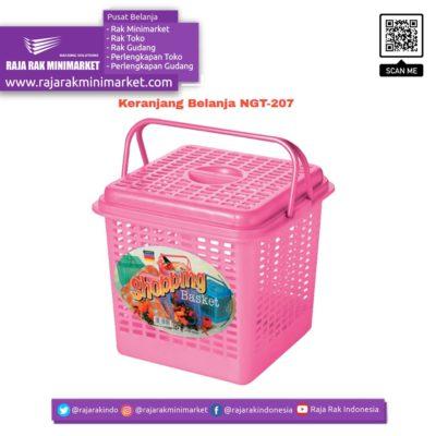 Keranjang Belanja Plastik Jinjing NGT-207 | Keranjang Toko Minimarket rajarakminimarket raja rak indonesia raja rak gudang