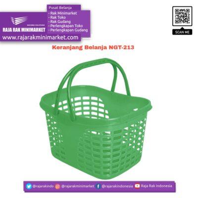 Keranjang Belanja Plastik Jinjing NGT-213 | Keranjang Toko Minimarket