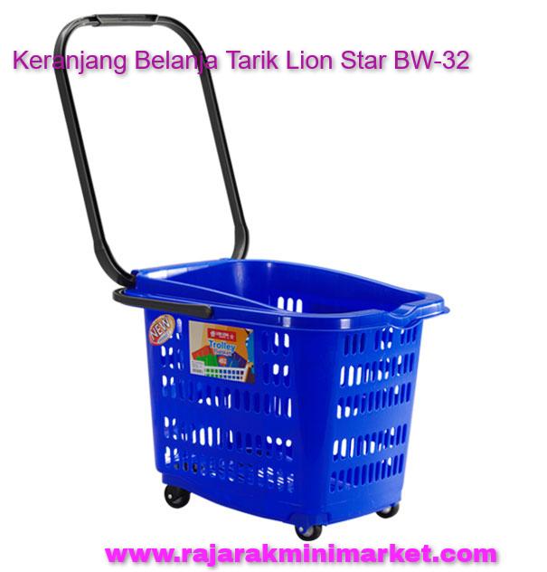 Keranjang Belanja Plastik Tarik Lion Star BW-32