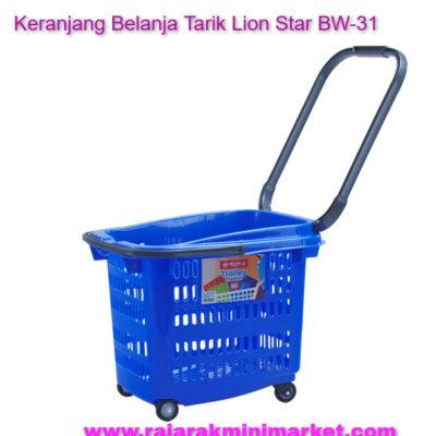 Keranjang Belanja Plastik Tarik Lion Star BW-31