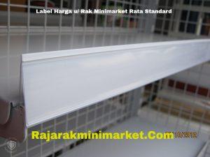 Label Harga Rak Minimarket Rata Standard PUTIH