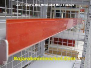 Label Harga Rak Minimarket Rata Standard MERAH
