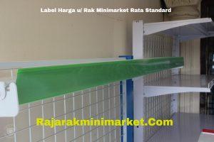 Label Harga Rak Minimarket Rata Standard HIJAU