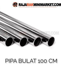 Pipa Bulat Panjang 100 cm - Pipa Bulat Panjang 1 m Warna Chrome