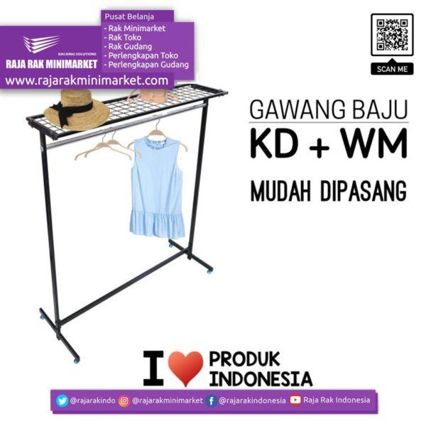 RAK GAWANG BAJU TIPE KD + WM | Rak Display Toko Baju Pakaian Busana rajarakminimarket raja rak indonesia raja rak gudang