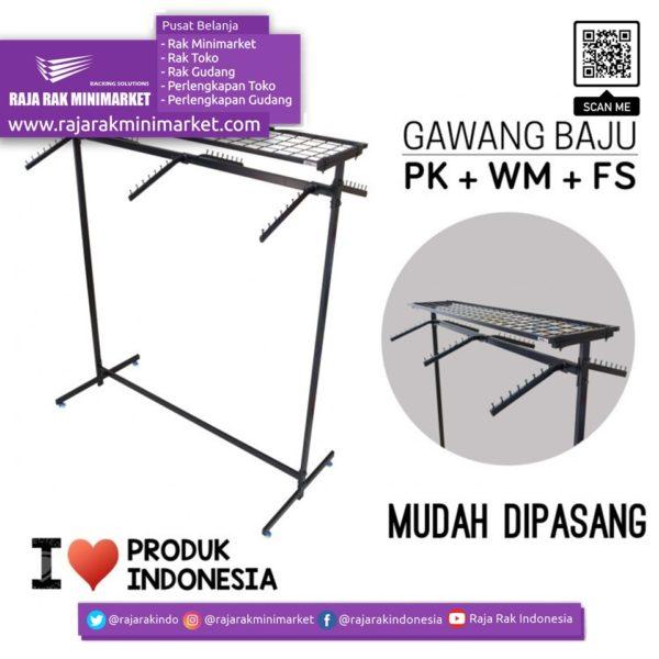 RAK GAWANG BAJU TIPE PK + FS + WM | Rak Display Toko Baju Pakaian Busana rajarakminimarket raja rak indonesia raja rak gudang