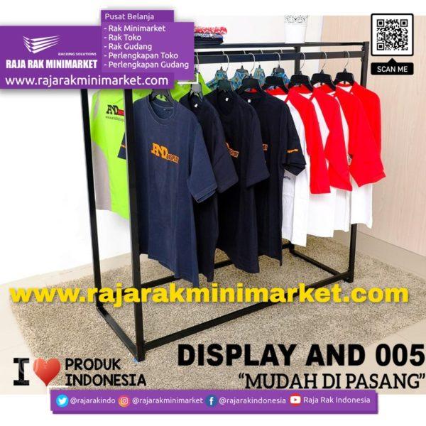 RAK GAWANG DISPLAY BAJU TIPE AND 005 | Rak Display Toko Baju Pakaian Busana rajarakminimarket raja rak indonesia raja rak gudang
