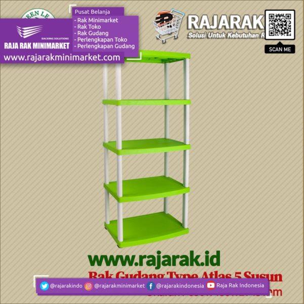 RAK GUDANG PLASTIK TIPE ATLAS S5 | Rak Plastik Susun Serbaguna rajarakminimarket raja rak indonesia raja rak gudang