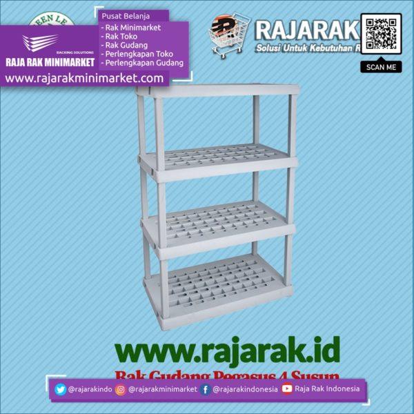 RAK GUDANG PLASTIK TIPE PEGASUS 1373-S4 | Rak Plastik Susun Serbaguna rajarakminimarket raja rak indonesia raja rak gudang