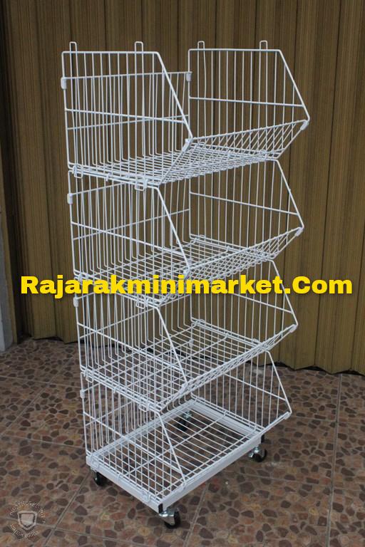 RAK KERANJANG 4 SUSUN P.50CM TIPE RKS50