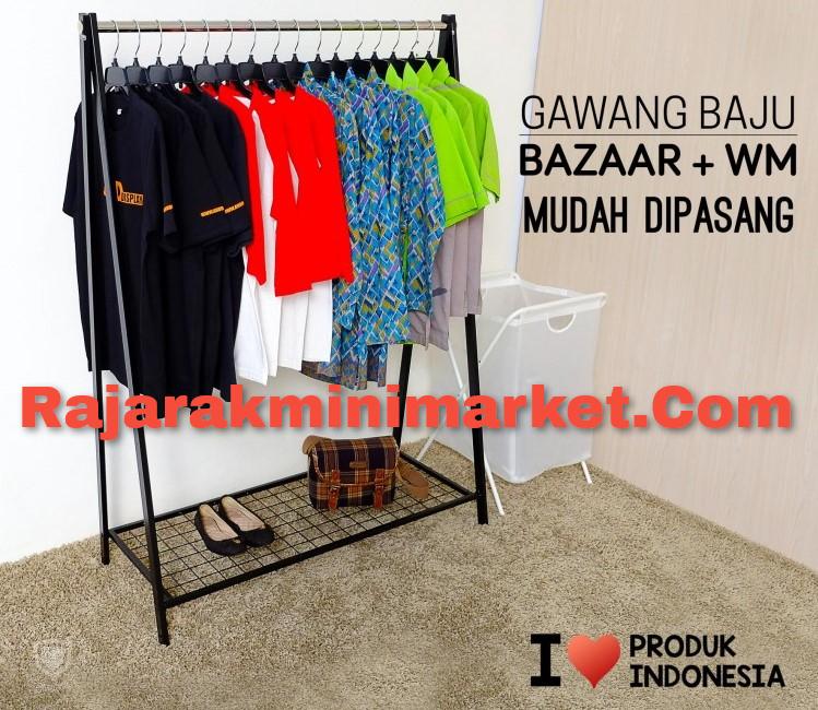 rak gawang bazar cocok untuk gelar lapak baju di pasar kaget / pasar malam