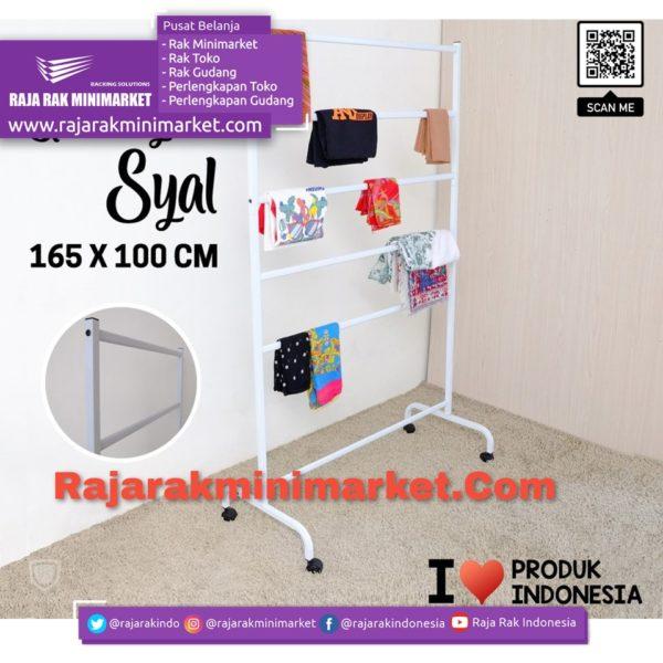Rak Gawang Syal / Kerudung Tipe GS-100 rajarakminimarket raja rak indonesia raja rak gudang