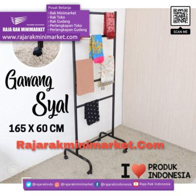 Rak Gawang Syal / Kerudung Tipe GS-60 | Rak Display Toko Baju Pakaian Busana rajarakminimarket raja rak indonesia raja rak gudang