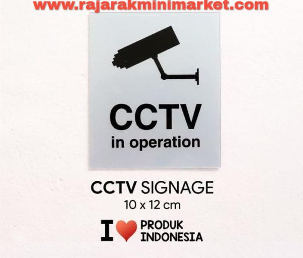 SIGNAGE / LOGO PERINGATAN CCTV IN OPERATION 10x12 CM