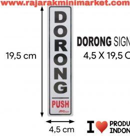 SIGNAGE / LOGO PERINGATAN DORONG 4,5x19,5 CM