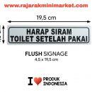 SIGNAGE / LOGO PERINGATAN HARAP SIRAM TOILET SETELAH PAKAI 4,5×19,5 CM rajarakminimarket raja rak indonesia raja rak gudang