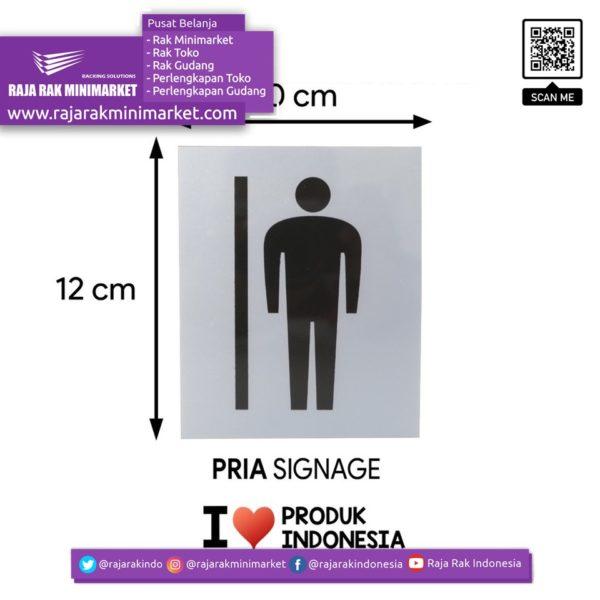 SIGNAGE / LOGO PERINGATAN PRIA PICT 10×12 CM rajarakminimarket raja rak indonesia raja rak gudang